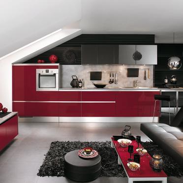 المطبخ امريكي عصري و حديث يتميز المطبخ بصغر حجمه ويمكن وضعه في الفيلات والشقق ويتميز بالاوانه الجديدة والمبهجه وبساطه الديكور الغير تقليديه