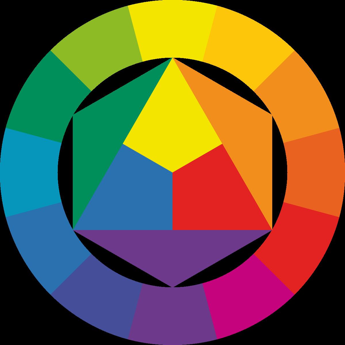 الألوان الاساسية والفرعية