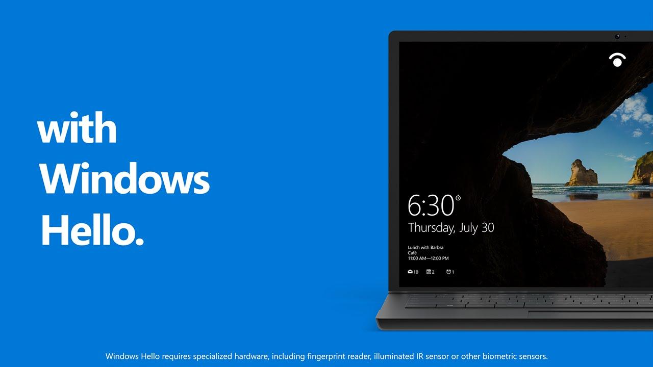 تقنية Windows hello بديل مايكروسوفت الثوري لكلمات المرور التقليدية