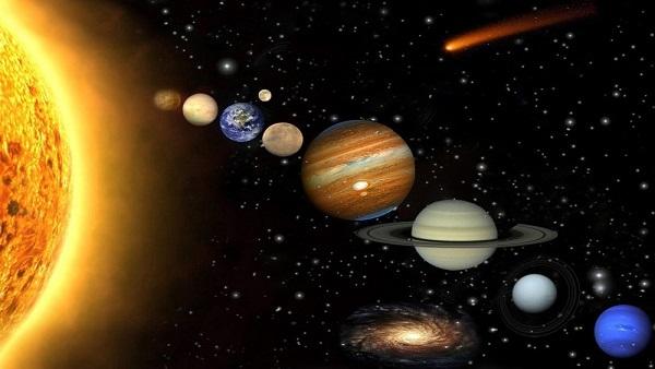 الكواكب والمجرات بانواعها