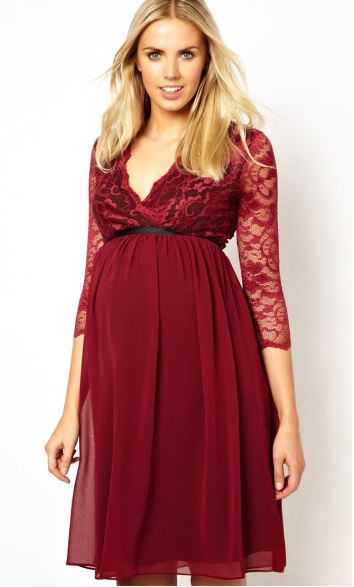 comfy-maternity-red-lace-dresses