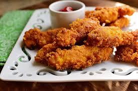أصابع الدجاج المقرمش بالصور