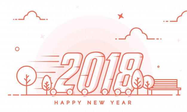 تعبير عن راس السنة الميلادية 2018