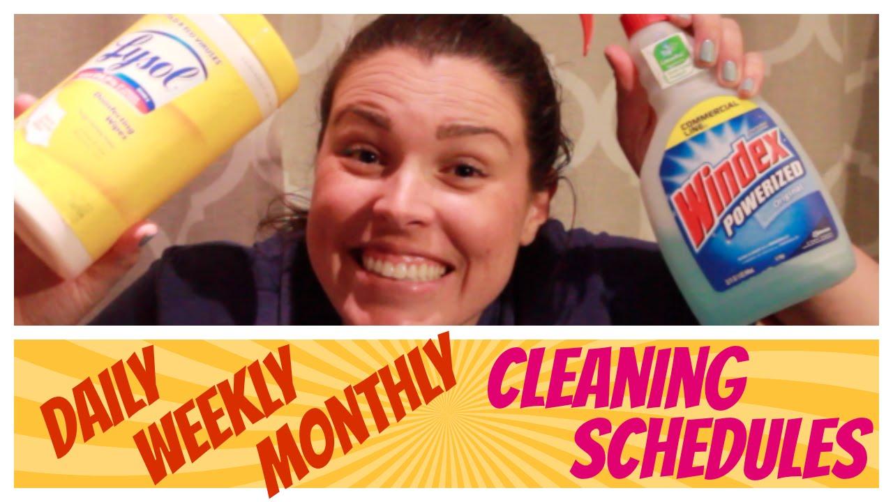 جدول التنظيف اليومى والاسبوعى والشهرى